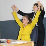Signe Zurmuehlen und Martina Frenzel, Auftritt bei der Mitgliederversammlung der Arbeitsgemeinschaft der Mitarbeitervertretungen in den Diakonischen Werken Niedersachsens, Hannover.2017