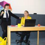 Signe Zurmuehlen und Martina Frenzel; Auftritt bei der Mitgliederversammlung der Arbeitsgemeinschaft der Mitarbeitervertretungen in den Diakonischen Werken Niedersachsens, Hannover 2017