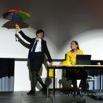 Signe Zurmuehlen u Martina Frenzel, Auftritt beim Angestelltengespräch der IG Metall Völklingen, 2017